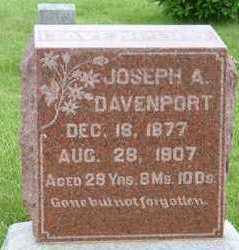 DAVENPORT, JOSEPH A. - Clarke County, Iowa   JOSEPH A. DAVENPORT
