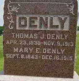 GILMORE DENLY, MARY ELIZABETH - Clarke County, Iowa | MARY ELIZABETH GILMORE DENLY