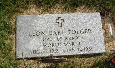 FOLGER, LEON EARL - Clarke County, Iowa | LEON EARL FOLGER