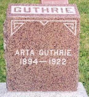 GUTHRIE, ARTA - Clarke County, Iowa | ARTA GUTHRIE