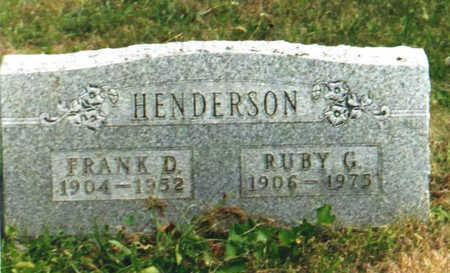 HENDERSON, FRANK DANIEL - Clarke County, Iowa | FRANK DANIEL HENDERSON