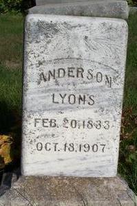 LYONS, ANDERSON - Clarke County, Iowa | ANDERSON LYONS
