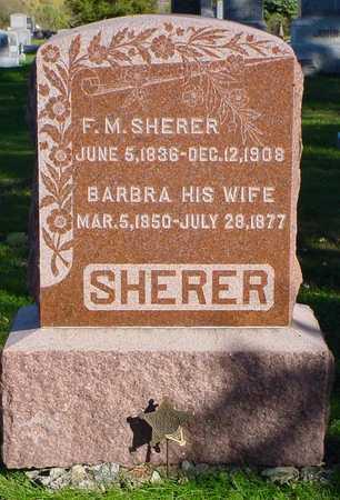 SHERER, F. M. - Clarke County, Iowa | F. M. SHERER