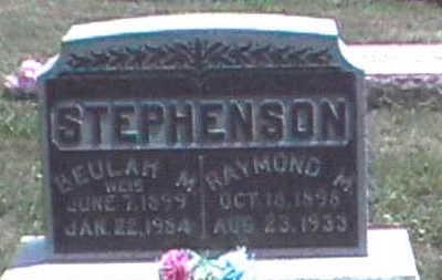 STEPHENSON, RAYMOND M. - Clarke County, Iowa   RAYMOND M. STEPHENSON