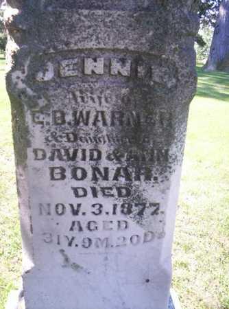 WARNER, ELIZABETH JENNIE - Clarke County, Iowa | ELIZABETH JENNIE WARNER