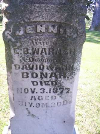 BONAR WARNER, ELIZABETH JENNIE - Clarke County, Iowa | ELIZABETH JENNIE BONAR WARNER