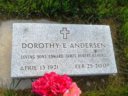 ANDERSEN, DOROTHY E. - Clay County, Iowa | DOROTHY E. ANDERSEN