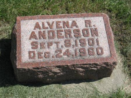 ANDERSON, ALVENA R. - Clay County, Iowa   ALVENA R. ANDERSON