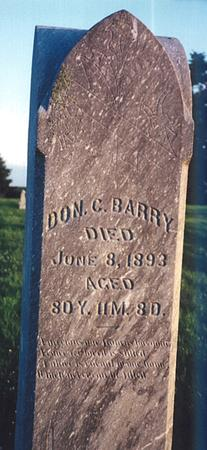 BARRY, DON CARLOS - Clay County, Iowa | DON CARLOS BARRY