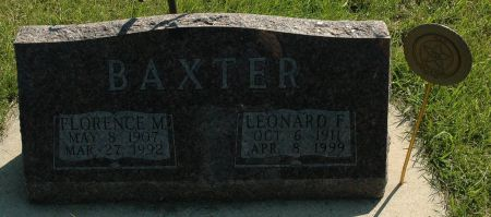 BAXTER, FLORENCE M. - Clay County, Iowa | FLORENCE M. BAXTER