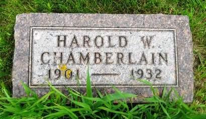 CHAMBERLAIN, HAROLD W. - Clay County, Iowa   HAROLD W. CHAMBERLAIN