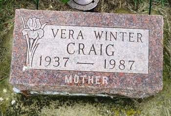 WINTER CRAIG, VERA - Clay County, Iowa   VERA WINTER CRAIG