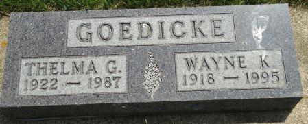 GOEDICKE, THELMA G. - Clay County, Iowa | THELMA G. GOEDICKE