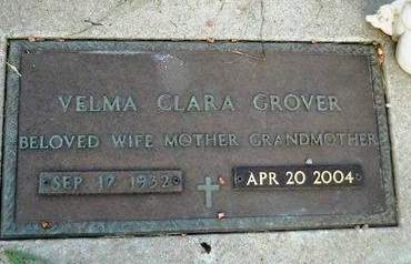 GROVER, VELMA CLARA - Clay County, Iowa | VELMA CLARA GROVER