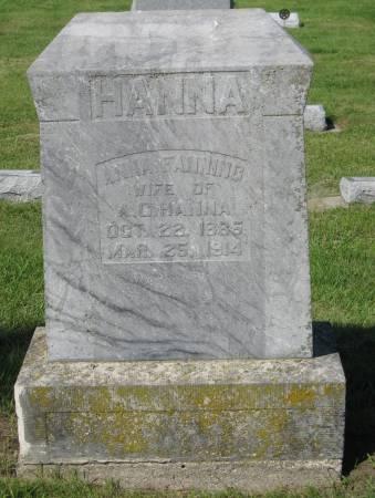 HANNA, ANNA - Clay County, Iowa | ANNA HANNA