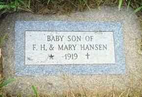 HANSEN, BABY SON - Clay County, Iowa | BABY SON HANSEN
