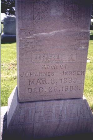 HARDY JESSEN, URSULA  BELL - Clay County, Iowa   URSULA  BELL HARDY JESSEN