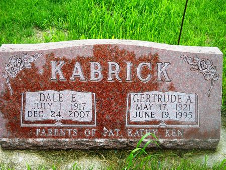 KABRICK, GERTRUDE A. - Clay County, Iowa | GERTRUDE A. KABRICK