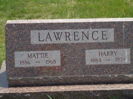 LAWRENCE, MATTIE - Clay County, Iowa   MATTIE LAWRENCE