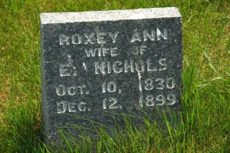 NICHOLS, ROXEY ANN - Clay County, Iowa   ROXEY ANN NICHOLS