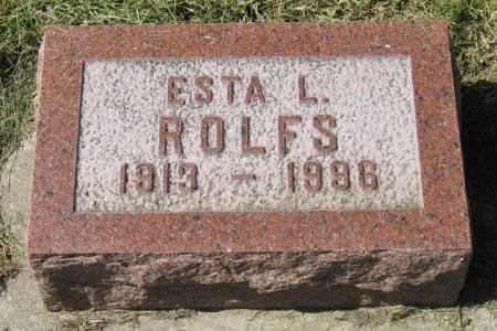 ROLFS, ESTA L. - Clay County, Iowa   ESTA L. ROLFS