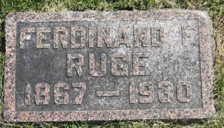 RUGE, FERDINAND F. - Clay County, Iowa | FERDINAND F. RUGE