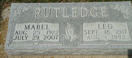 RUTLEDGE, LEO - Clay County, Iowa   LEO RUTLEDGE