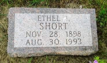 SHORT, ETHEL I. - Clay County, Iowa   ETHEL I. SHORT