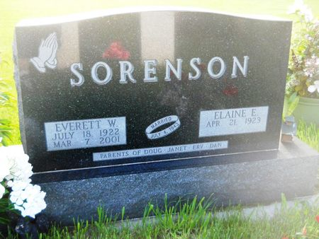 SORENSON, EVERETT W. - Clay County, Iowa   EVERETT W. SORENSON