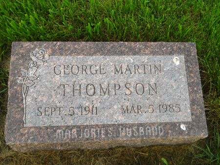 THOMPSON, GEORGE MARTIN - Clay County, Iowa | GEORGE MARTIN THOMPSON