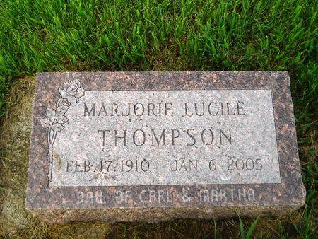 THOMPSON, MARJORIE LUCILE - Clay County, Iowa | MARJORIE LUCILE THOMPSON