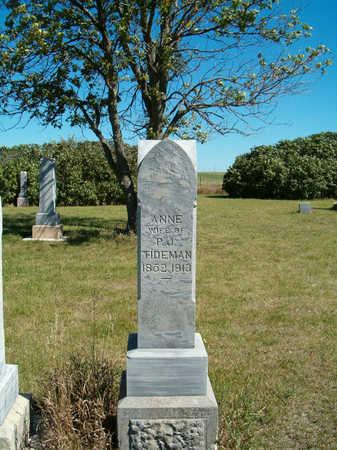 TIDEMAN, ANNE - Clay County, Iowa | ANNE TIDEMAN