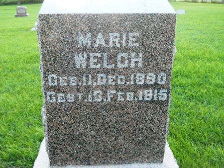 WELCH, MARIE - Clay County, Iowa | MARIE WELCH