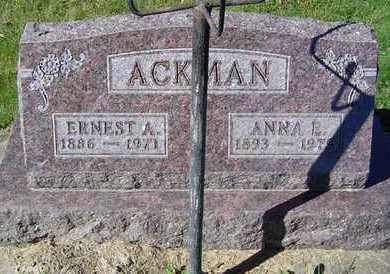 ACKMAN, ANNA E. - Clayton County, Iowa | ANNA E. ACKMAN