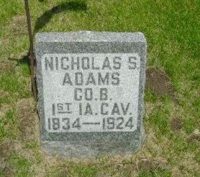 ADAMS, NICHOLAS S - Clayton County, Iowa   NICHOLAS S ADAMS