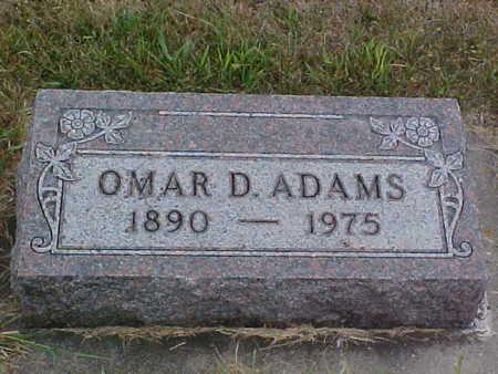 ADAMS, OMAR D. - Clayton County, Iowa   OMAR D. ADAMS