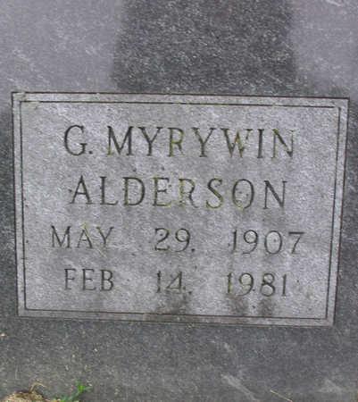ALDERSON, G. MYRYWIN - Clayton County, Iowa   G. MYRYWIN ALDERSON