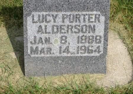 PORTER ALDERSON, LUCY - Clayton County, Iowa | LUCY PORTER ALDERSON