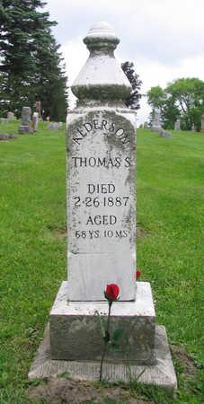 ALDERSON, THOMAS - Clayton County, Iowa   THOMAS ALDERSON