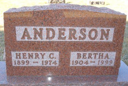 ANDERSON, BERTHA - Clayton County, Iowa | BERTHA ANDERSON