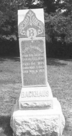 BACKHAUS, HENRY CASPER & ANNA MARIA (SCHMIDT) - Clayton County, Iowa | HENRY CASPER & ANNA MARIA (SCHMIDT) BACKHAUS