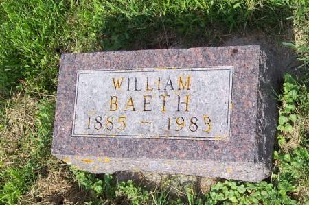 BAETH, WILLIAM - Clayton County, Iowa   WILLIAM BAETH