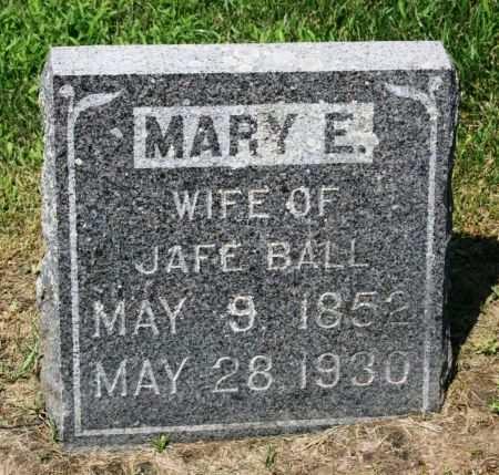 BALL, MARY E. - Clayton County, Iowa | MARY E. BALL
