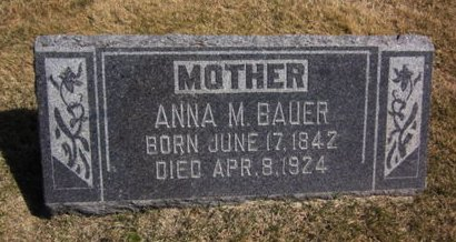 BAUER, ANNA M. - Clayton County, Iowa | ANNA M. BAUER