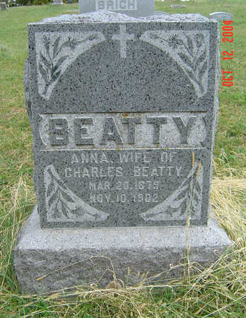 BEATTY, ANNA - Clayton County, Iowa   ANNA BEATTY