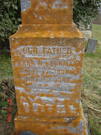 BECKMAN, FRANK H. - Clayton County, Iowa   FRANK H. BECKMAN