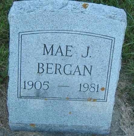BERGAN, MAE JOSEPHINE - Clayton County, Iowa   MAE JOSEPHINE BERGAN