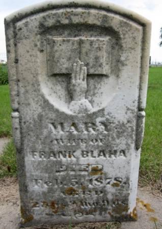 BLAHA, MARY - Clayton County, Iowa | MARY BLAHA