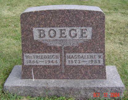 BOEGE, WM FRIEDRICH - Clayton County, Iowa | WM FRIEDRICH BOEGE