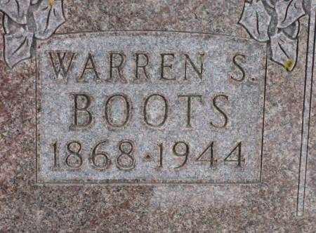 BOOTS, WARREN S. - Clayton County, Iowa   WARREN S. BOOTS